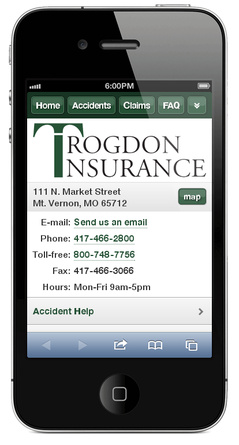 m.trogdoninsurance.com website preview